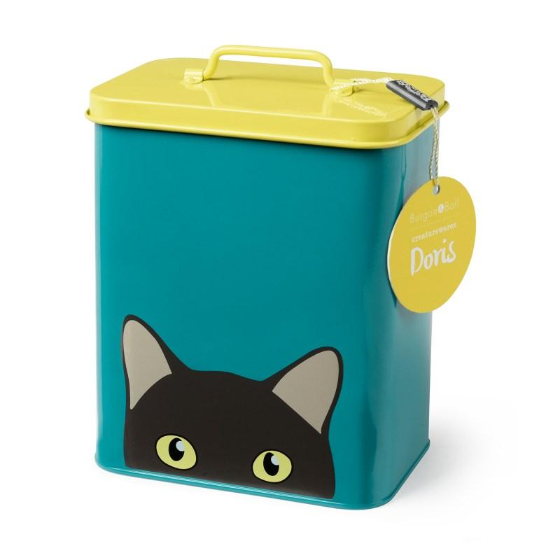 """Burgon & Ball – Creaturewares """"Doris"""" Cat Bowl & Matching Cat Tin"""