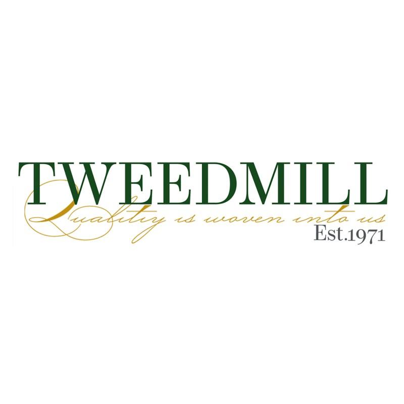 Tweedmill – Silver Grey Felt Storage Basket with Leather Handles