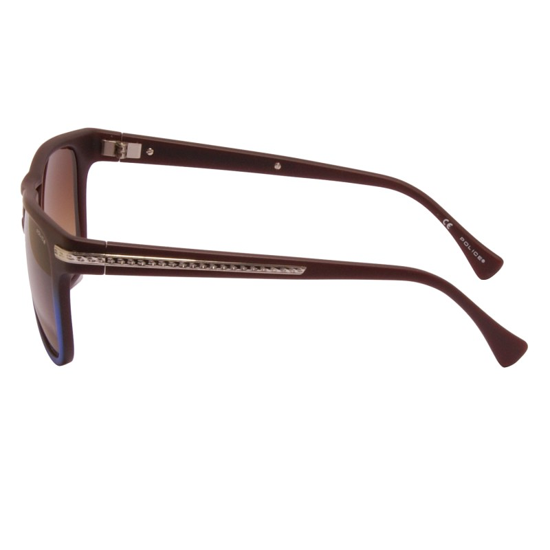 Police – Brown/Blue Gradient Classic Style Dust 1 Sunglasses with Case and Box