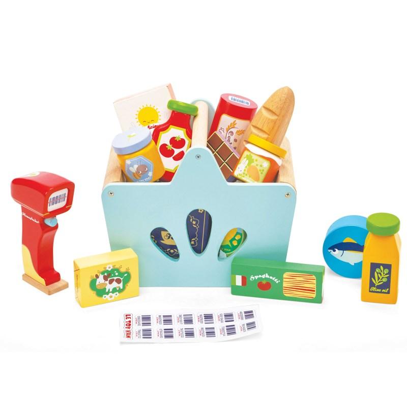 Le Toy Van – Wooden Groceries Set and Scanner