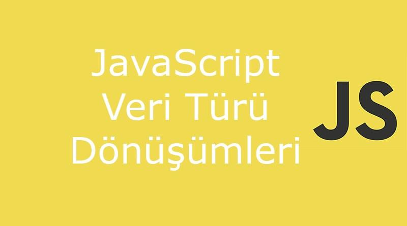 javascript veri türü dönüşümü