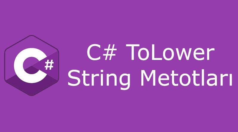 C# tolower