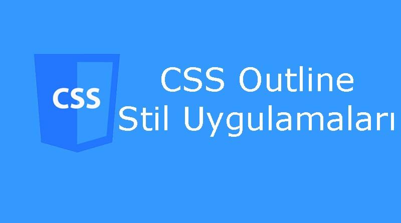 CSS outline özellikleri
