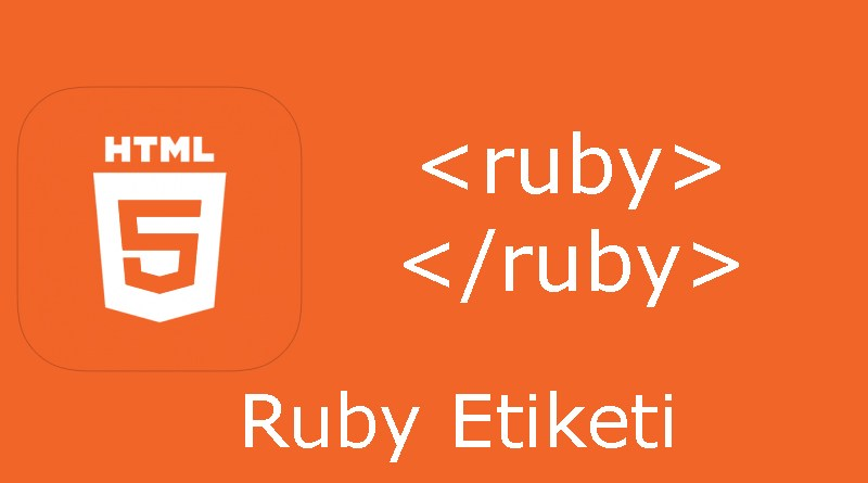HTML ruby etiketi