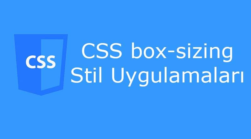 CSS box-sizing özelliği