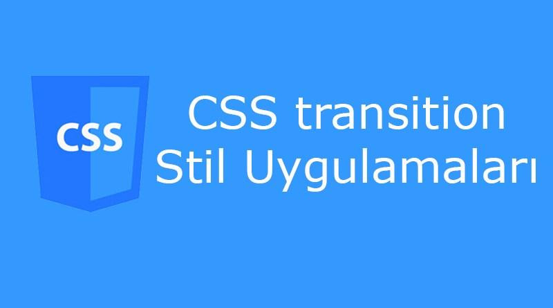CSS transition özelliği