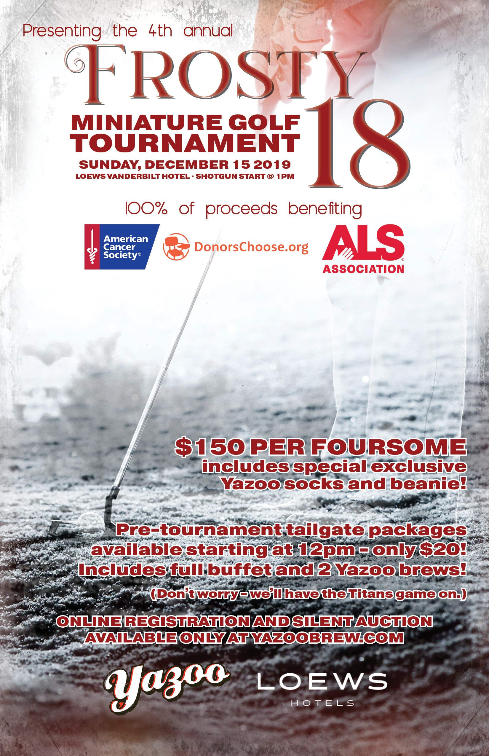 4th Annual Frosty 18 Mini Golf Tournament · TAILGATE PACKAGE