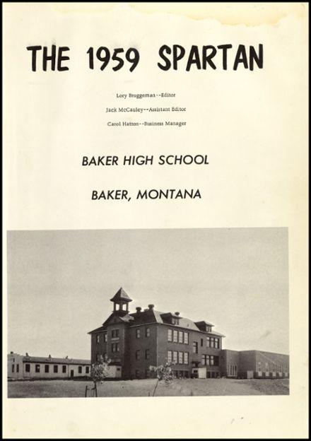 Explore 1959 Baker High School Yearbook, Baker MT - Classmates