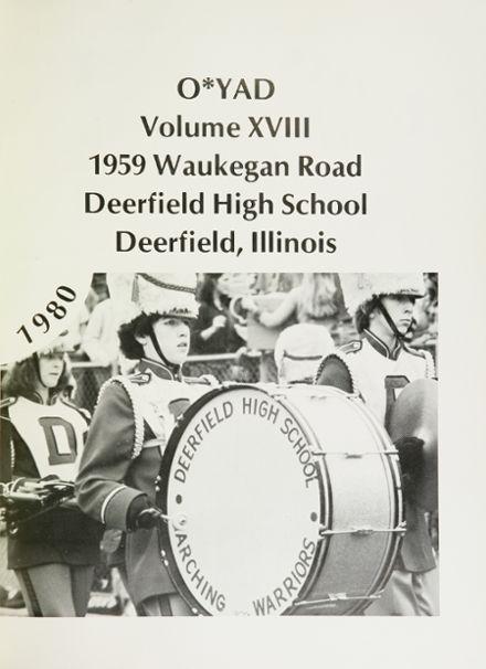 Explore 1980 Deerfield High School Yearbook, Deerfield IL ...
