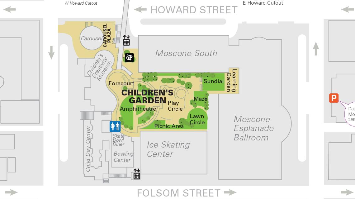 Map of Yerba Buena Gardens central block 3.