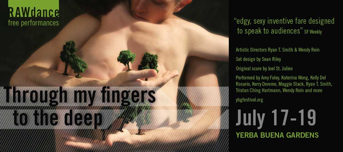 Postcard for Through my fingers to the deep