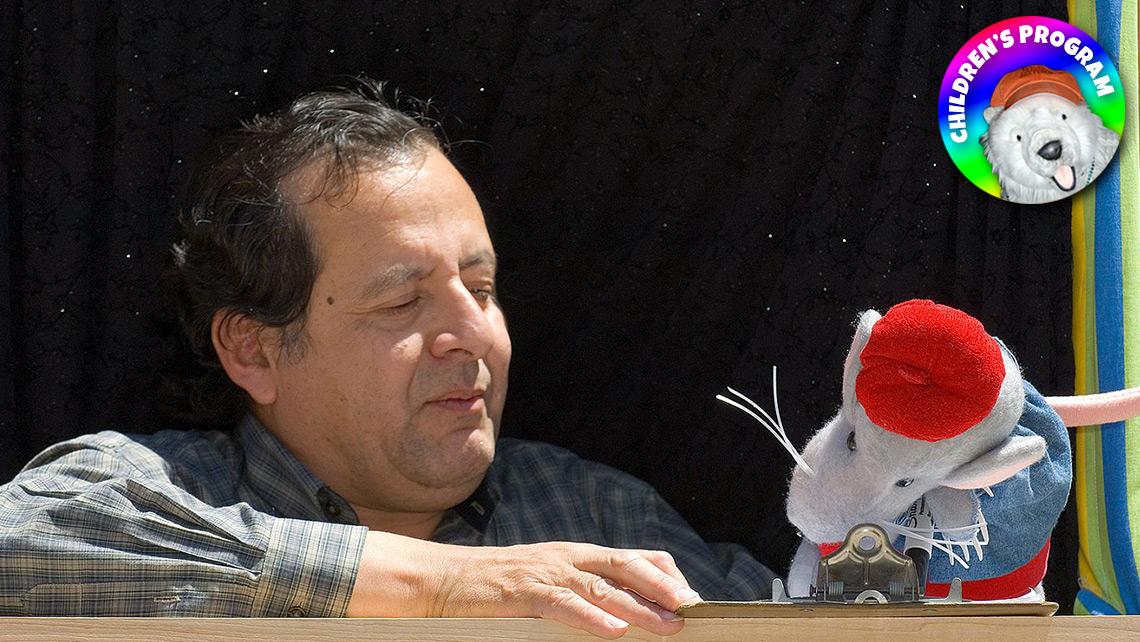 Photo of caterpillar puppets