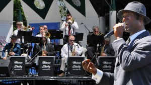Image of Marcus Shelby with orchestra