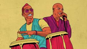 Illustration of Pedrito Martinez and Issac Delgado
