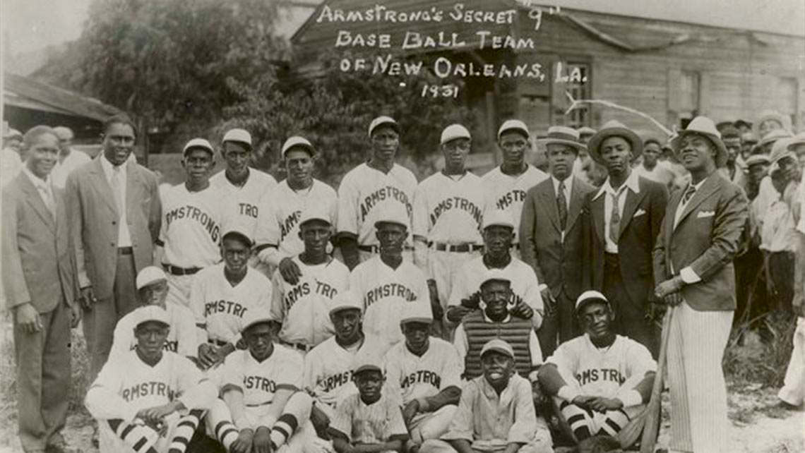 "Louis Armstrong's Secret ""9"" Baseball Team of New Orleans, LA. 1931"