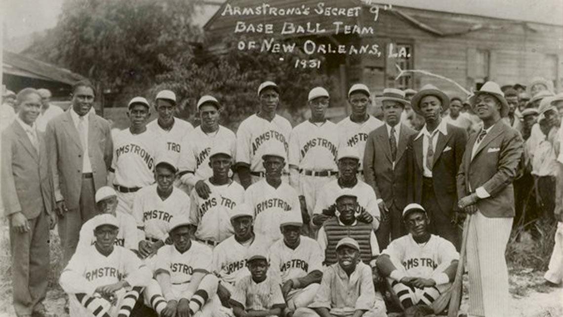 "Louis Armstrong's Secret ""9"" Baseball Team of New Orleans, LA. 1931"
