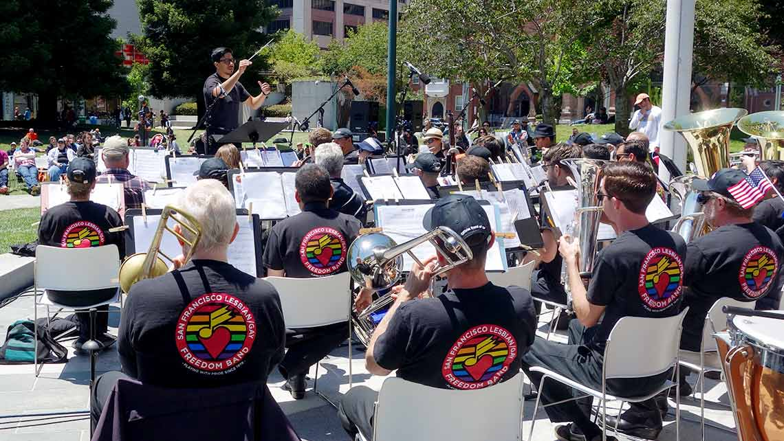 Photo of the SF Lesbian/Gay Freedom Band