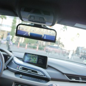 YBLTV Anchor, Erika Blackwell chats with Philipp Hoffman, BMW Group's Project Manager for Camera Monitor Systems inside the BMW i8 Mirrorless at CES 2016.