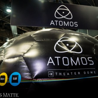 Las Vegas, NV - April 18, 2016: Atomos uses an inflateable dome to display its products at NAB. Photo by James Mattil, YBLTV Writer / Reviewer / Photographer.