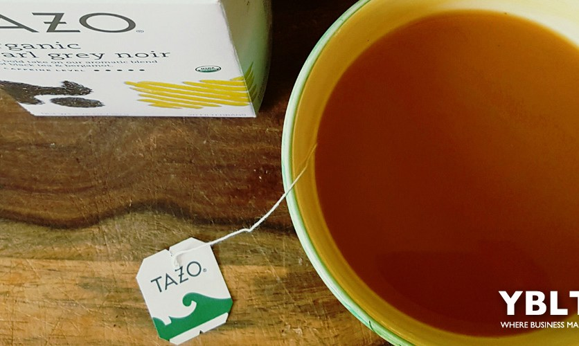 Tazo Organic Earl Grey Noir. Photo by Kayla Costanzo, YBLTV Writer / Reviewer.
