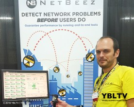 NetBeez, Inc. CEO, Panickos Neophytou at Interop 2016. Source: YBLTV / YBL, LLC.
