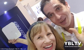 Dr. Teboul Francois, Directeur Medical, Visiomed Group SA with YBLTV Anchor, Erika Blackwell at CES 2017.