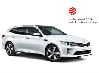 Kia Optima Sportwagon 2017 Reddot Award. Image Source: Kia Motors Corporation.