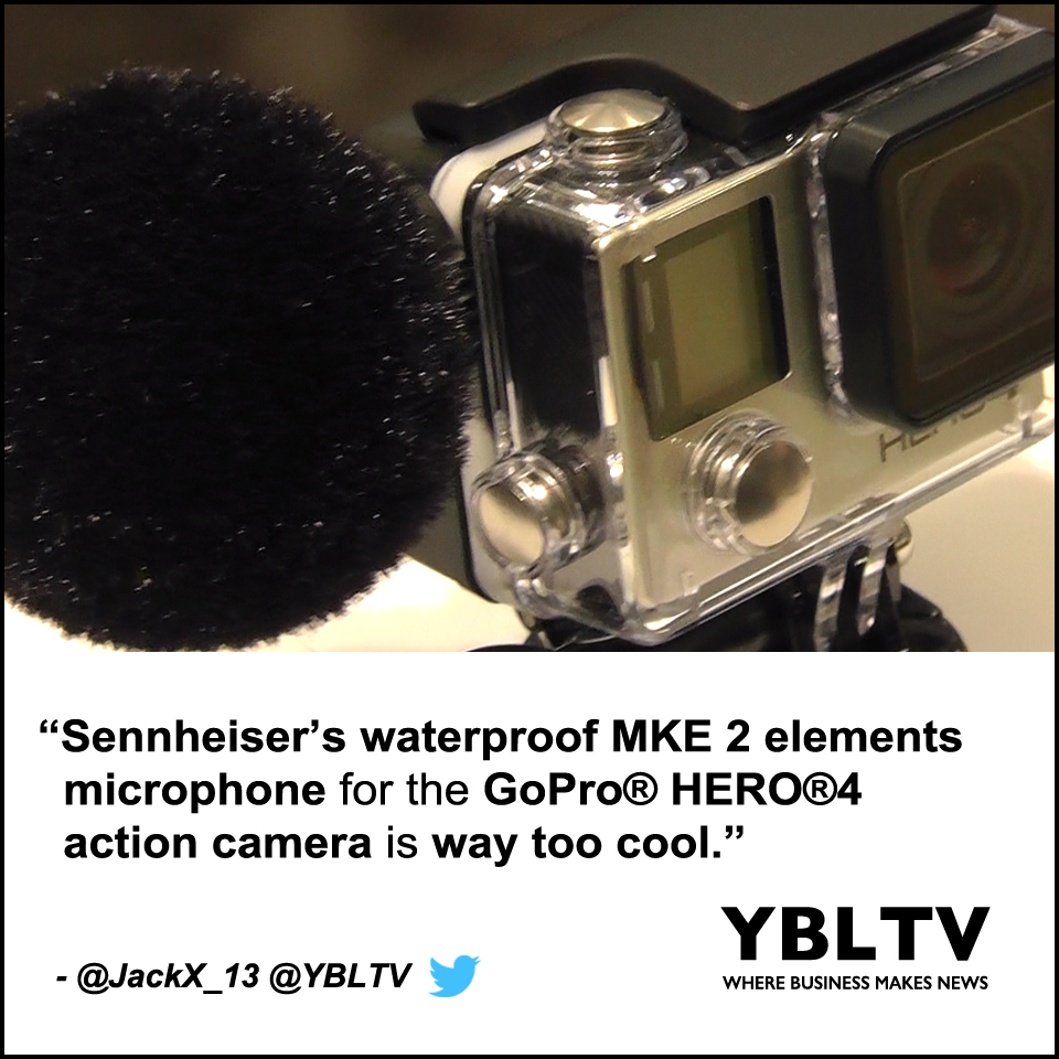 """Sennheiser's Waterproof MKE 2 Elements Microphone for the GoPro® HERO®4 Action Camera Is Way Too Cool,"" - Jack X, YBLTV Writer / Reviewer"