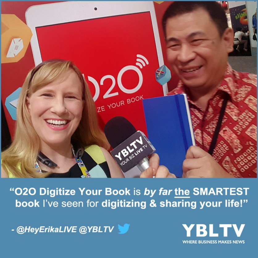 TECHSTORM DYNAMICS Pte. Ltd., Director, Iwan Iman with YBLTV Anchor, Erika Blackwell at the 2017 Licensing Expo, Las Vegas, NV.