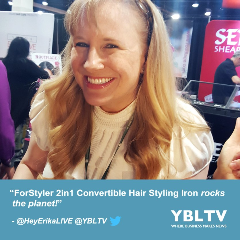 ForStyler 2in1 Convertible Hair Styling Iron rocks the planet! - Erika Blackwell, YBLTV Anchor.