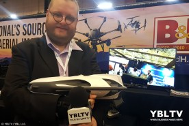 YBLTV Writer / Reviewer, Jack X checks out the PowerRay from PowerVision Robot Inc. at the B&H Booth, InterDrone 2017.