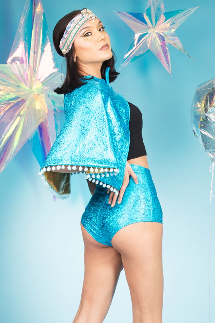 Turquoise_Holographic_Festival_Cape_Capelet_High_Waisted_Hot_Pants_MADWAG_cropped.jpg