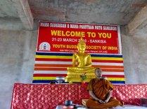 Ven. Dr. Upanand gave instruction about meditation.