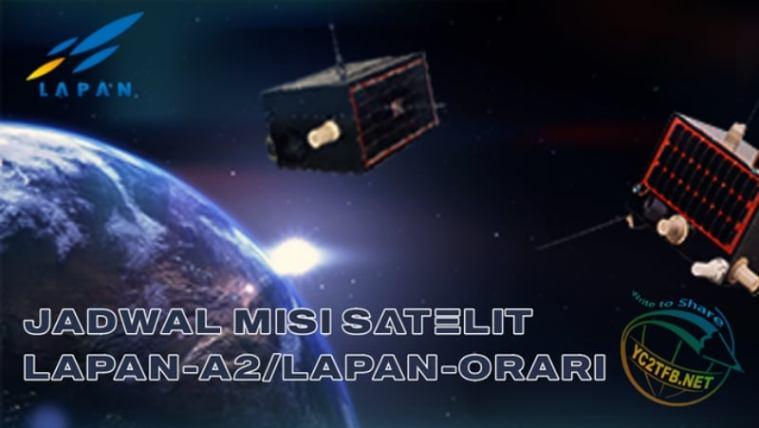 Jadwal Misi Satelit LAPAN-A2 / LAPAN-ORARI IO-86
