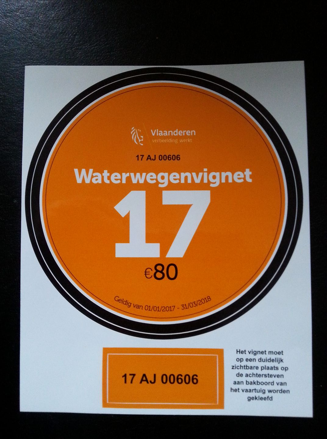 Waterwegenvignet 2017