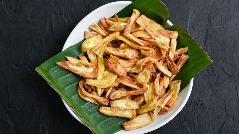 Jackfruit is often fried and made into crunchy chips as a snack (Credit: Credit: santhosh_varghese/Getty Images)