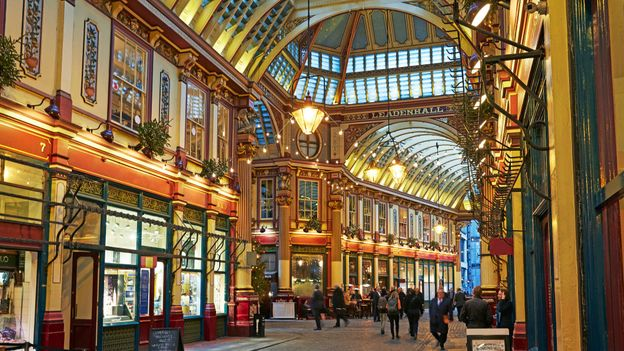 Leadenhall Market in the heart of London evokes a strong sense of grandiose Britishness (Credit: Credit: Tonywestphoto/Getty Images)