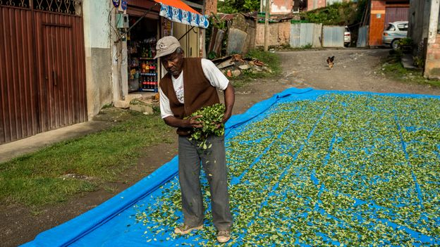 """King Julio farms, manages a local store and """"rules"""" over the community's 2,000 residents (Credit: Credit: Jordi Busqué)"""