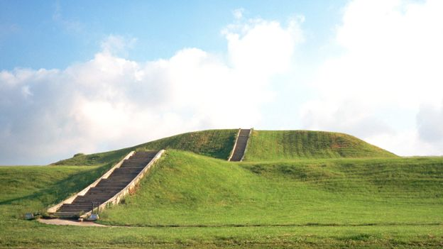 Seventy of Cahokia's original mounds are protected within the Unesco World Heritage Site (Credit: Credit: Michael S Lewis/Getty Images)