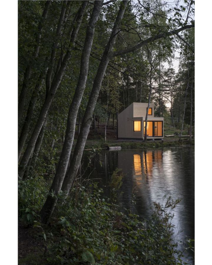 The Woody35 by Norwegian architect Marianne Borge was created to have a small footprint (Credit: Marianne Borger)