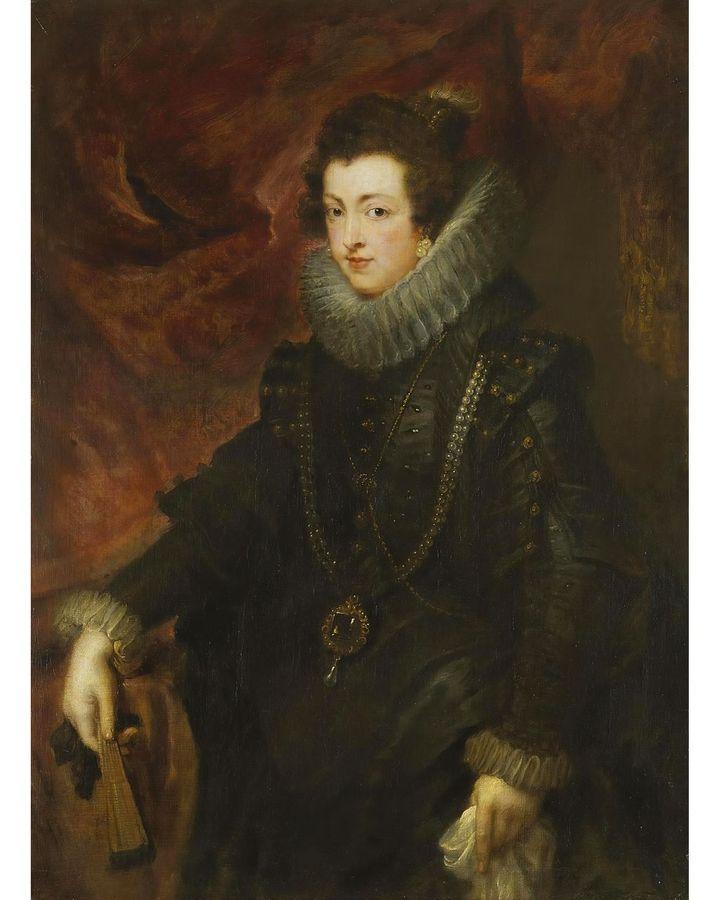 A portrait of Elizabeth of Bourbon (1628-9) by Peter Paul Rubens features La Peregrina (Credit: Alamy)