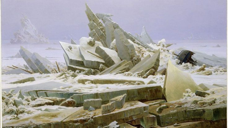 The Sea of Ice by Caspar David Friedrich (1824)
