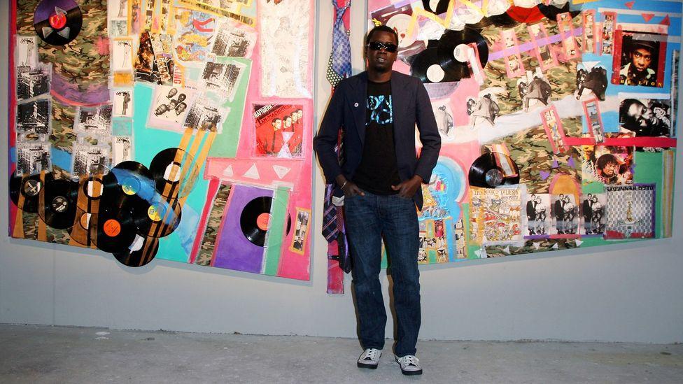 """Senegalli küratör ve sanatçı Modou Dieng - 2009'da görüldü - BBC Culture'a """"sanatın geleceği siyahtır"""" diyor (Kredi: Getty)"""