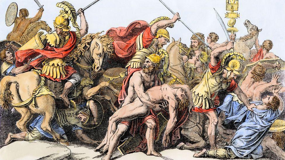 Artist depiction of the Trojan war