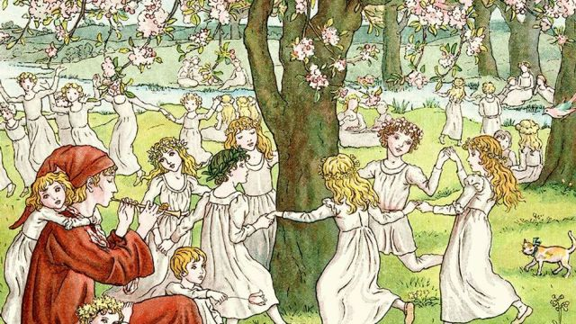Some theorise that the Pied Piper led the youth of Hamelin to their midsummer festivities (Credit: Kate Greenaway/duncan1890/Getty Images)