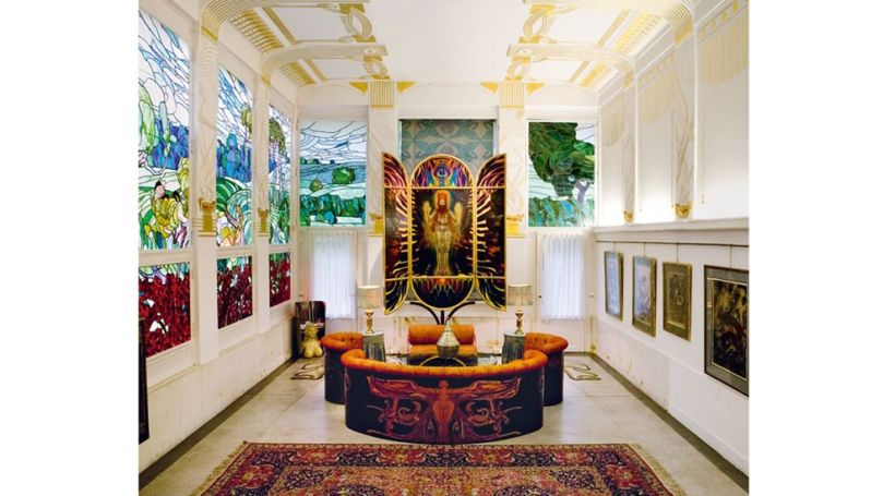 The family villa built by Secessionist architect Otto Wagner is now full of artworks by its subsequent owner Ernst Fuchs (Credit: Life Meets Art/ Phaidon)