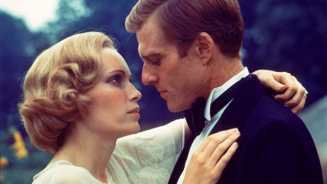 Mia Farrow and Robert Redford in The Great Gatsby