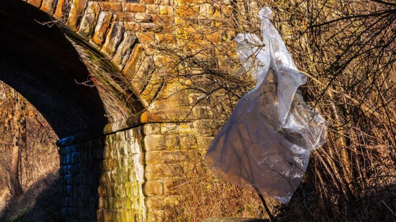 Plastic bags can be hard to recycle, but they are an ideal ingredient for plastic in roads (Credit: Alamy)