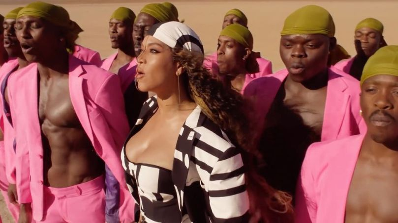 Beyoncé, seen here in the video for Spirit, is among the artists who have been inspired by African fashion (Credit: Disney)