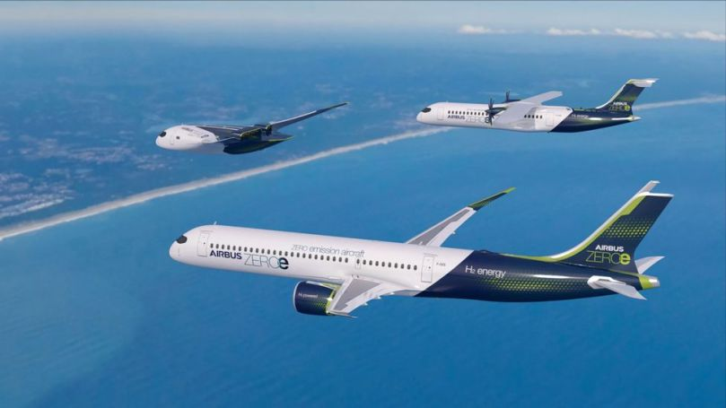 Airbus is aiming to have its three concept hydrogen aircraft in operation by 2035 (Credit: Airbus)